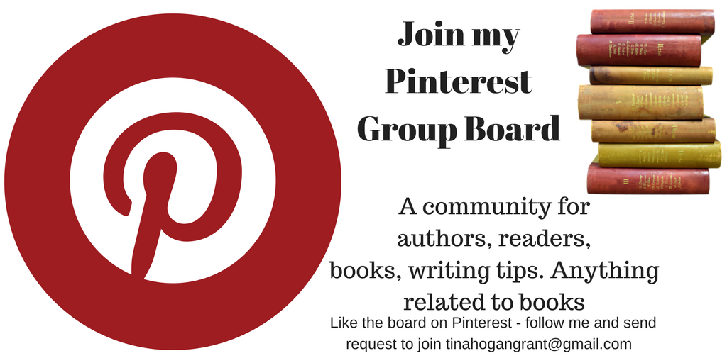 Join my Pinterest Group Board for authors, readers and everything books
